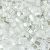 Miyuki Tila Half Cut 5X2.3mm 2Hole White Pearl Opaque Ceylon